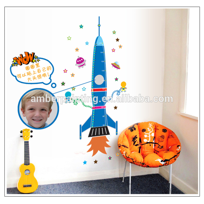 airplane wall sticker measurement growth sticker for baby