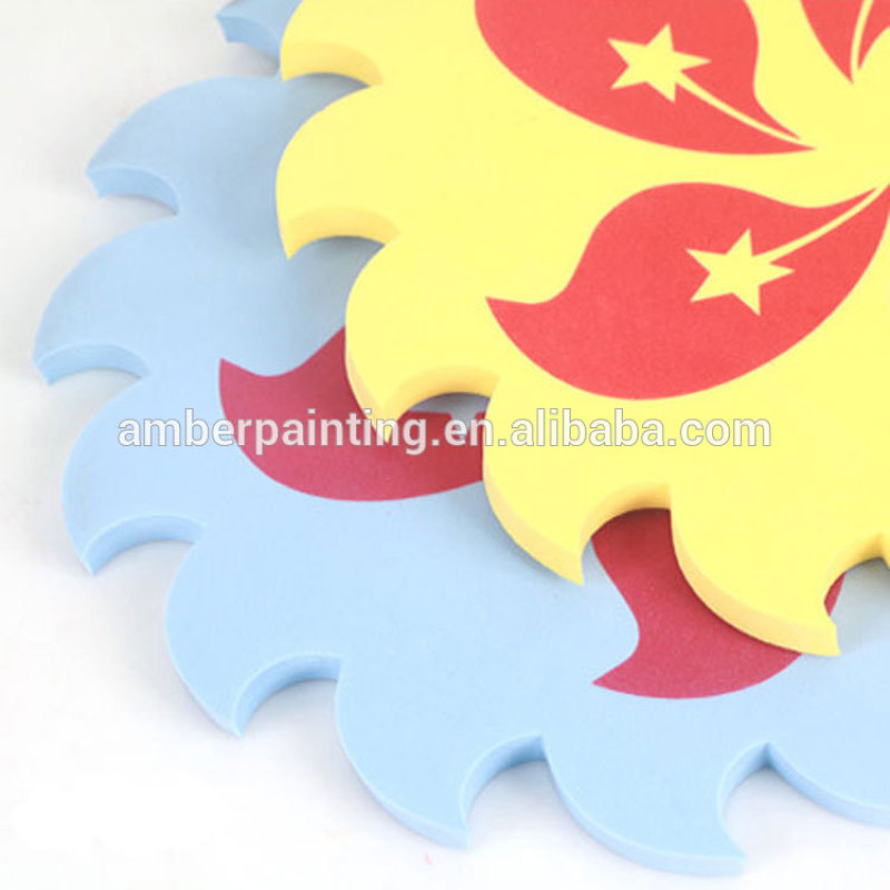 diy custom mini soft foam frisbee toy for boys flying sport discs