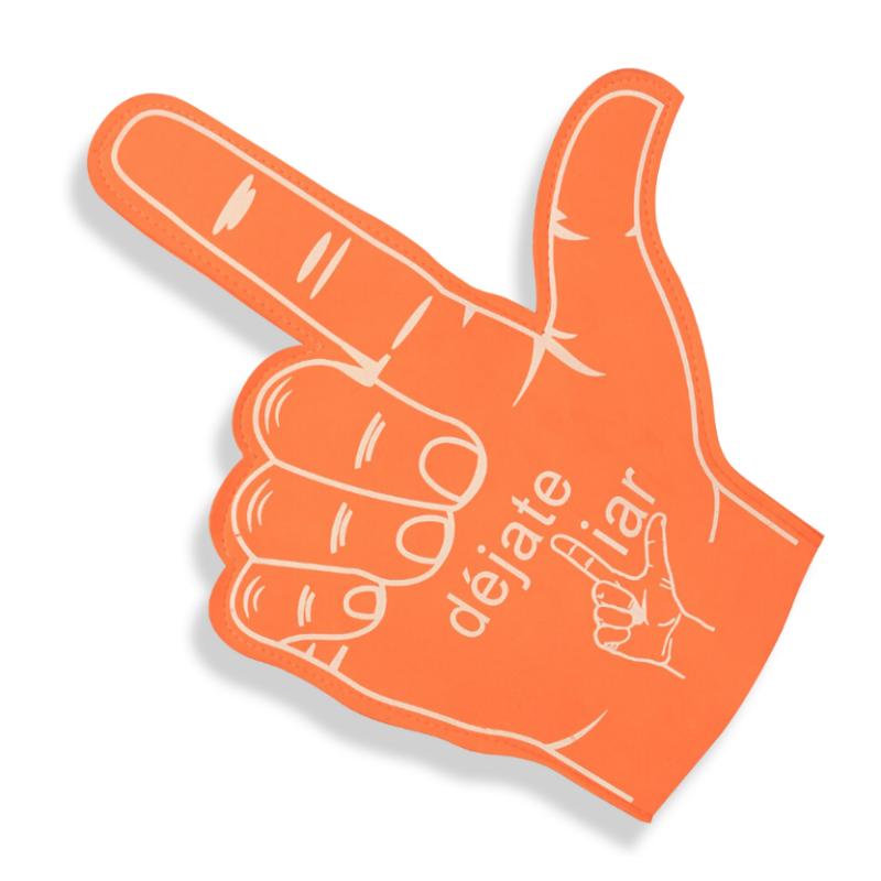 Custom wholesale cute eva finger foam hand Cheerleading supplies cheering foam hand shocker' foam hand finger cheer