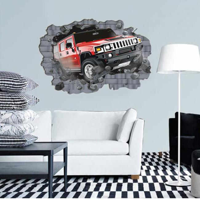 2017 hot selling home decoration living room 3d wall sticker for baby