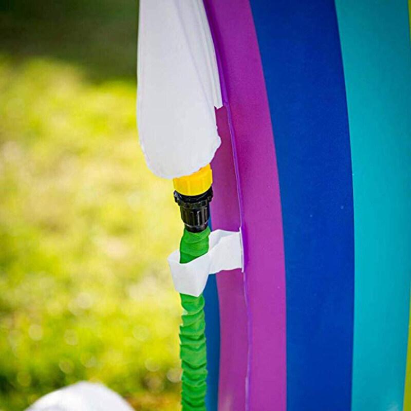 rainbow sprinkler inflatable water splash and play mat