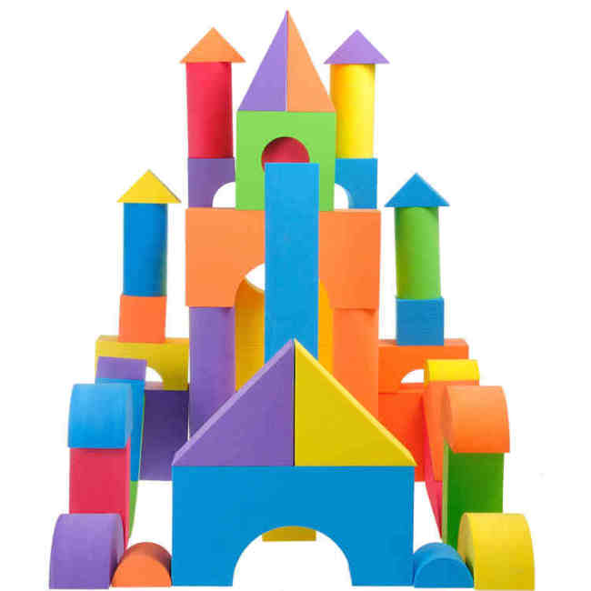 DIY intelligent shape sorter foam building blocks build blocks for child
