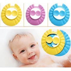 Soft eva material baby shower shampoo cap baby bath cap