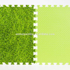 eva green grass coating mat baby foam play mat with sides