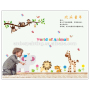 family wall vinyl stickers world of animal art wall stickers for children