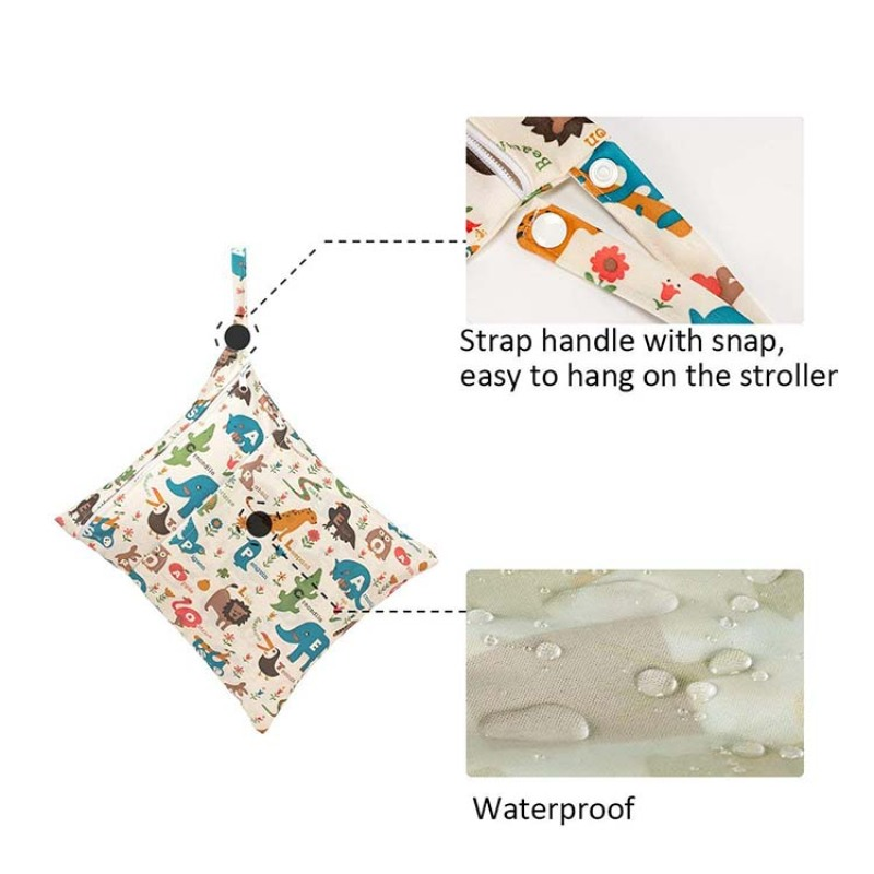 Hot sale fashion design wet and dry diaper bag