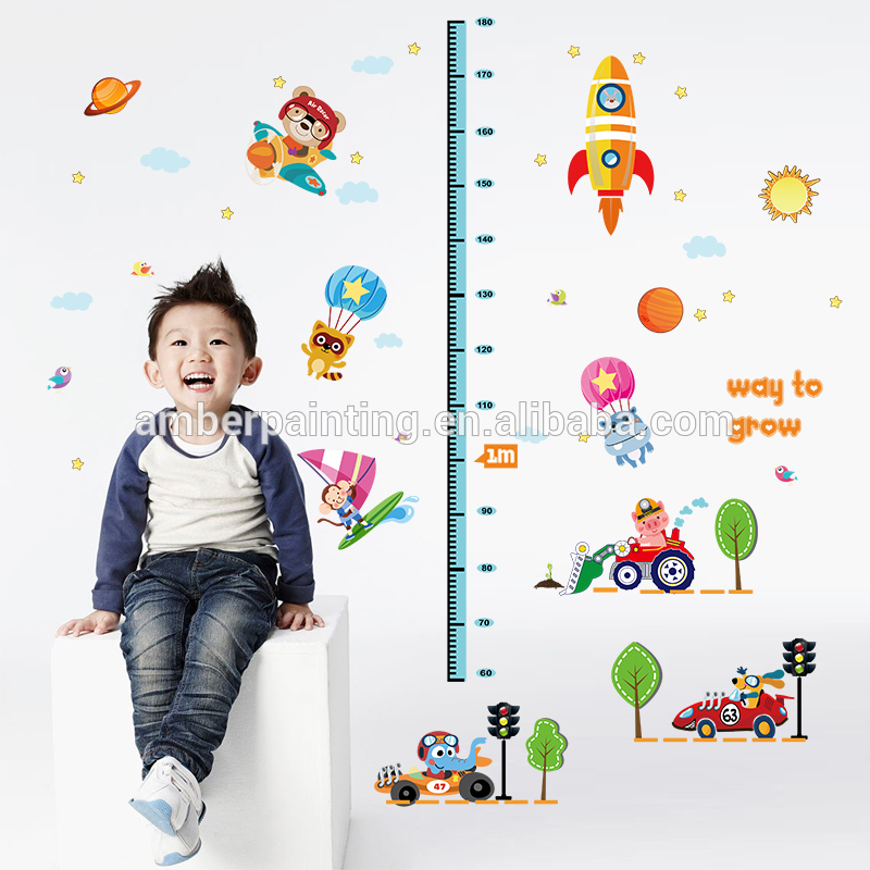 kids height measure wall sports car wall decals for nursery