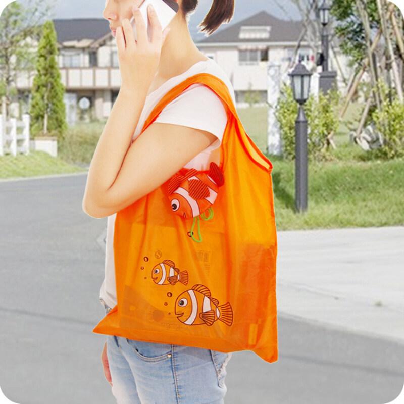 eco-friendly custom reusable shopping bag grocery oxford nylon foldable