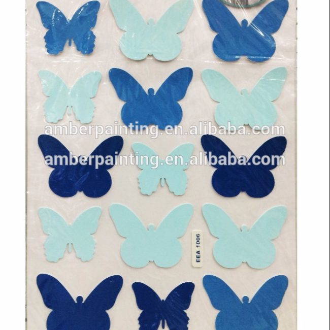 Non toxic OEM design butterfly eva foam wall sticker for room decor