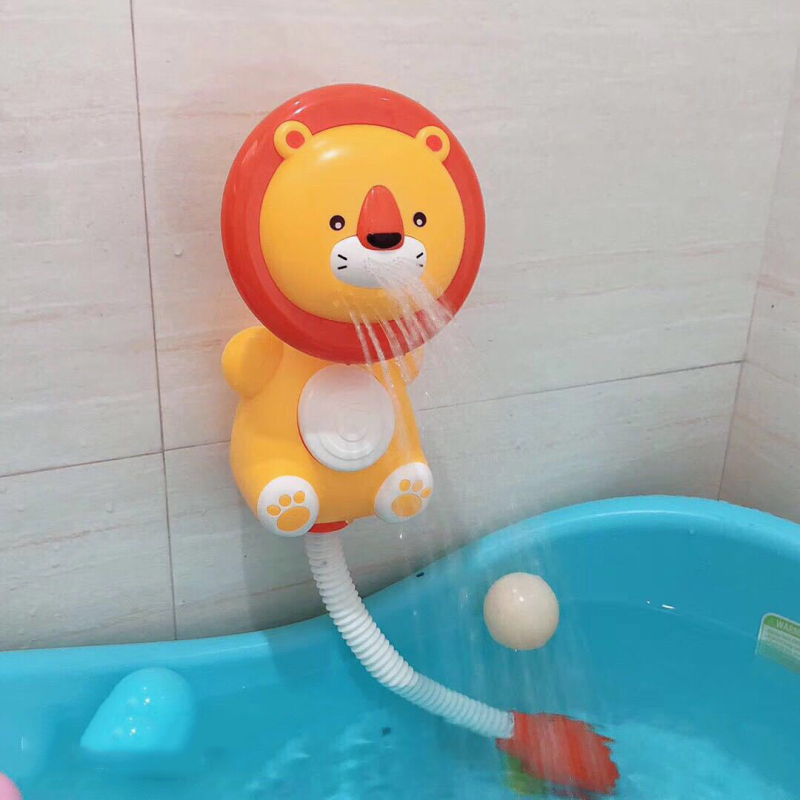 Animal-shaped shower plastic toy bath toys water sprinkler rain cloud bath toy