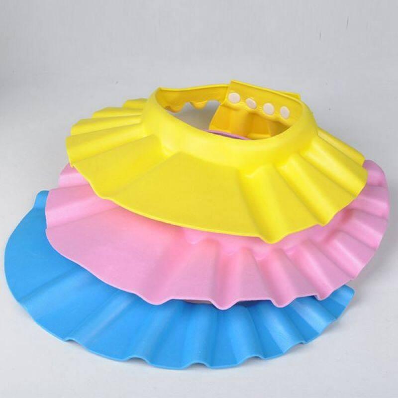 2018 new design adjustable colorful baby bath cap