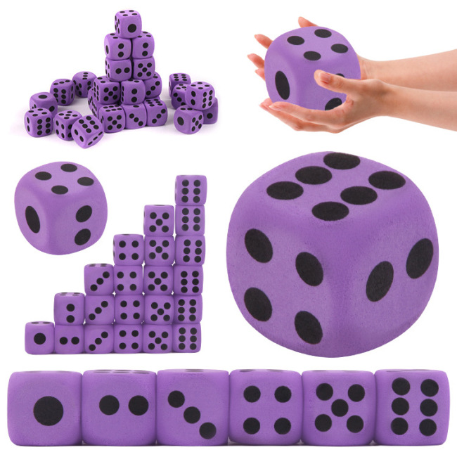 High quality custom eva foam dice toys