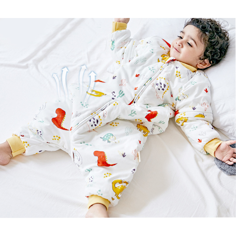 winter 100% cotton baby long sleeve sleeping bag