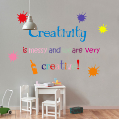 Removable word room PVC wall sticker