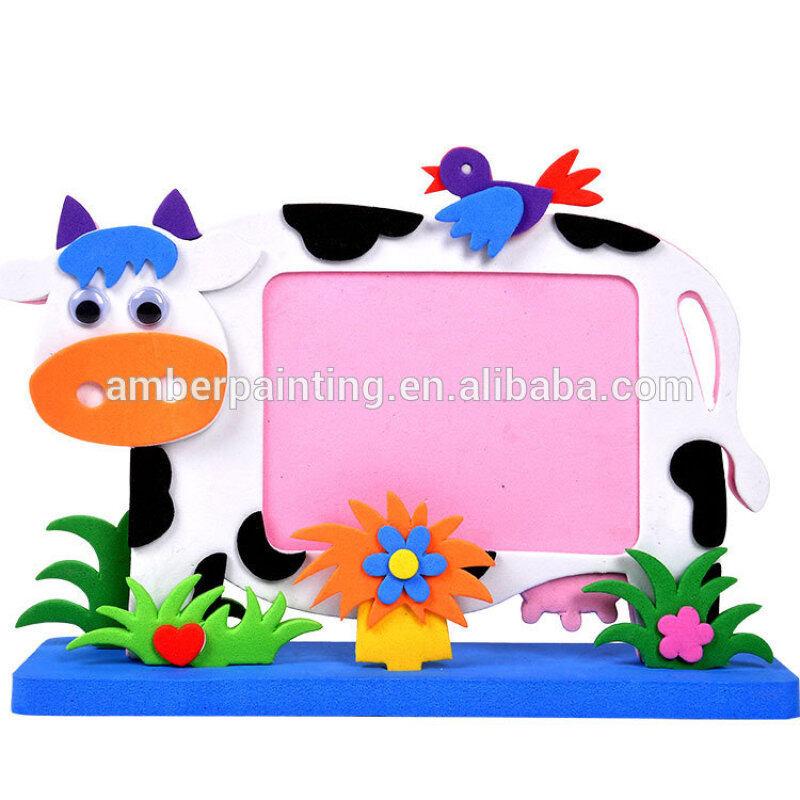 OEM fancy full color sample foam photo frame design back support
