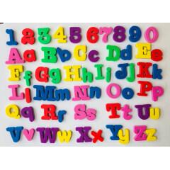 customized colorful beautiful eva fridge magnet letters for kids