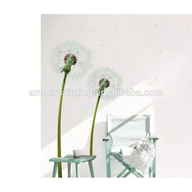white flower wall stickers dandelion wall sticker for bedroom