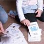 Wholesale custom logo printing kids learning flash card