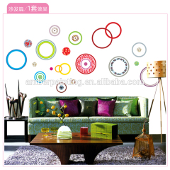 wall multicolor circles stickers for family wall