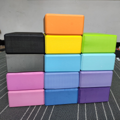 Custom High-density eco friendly pink and blue eva foam yoga blocks with logo