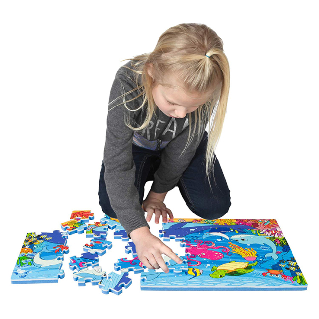 Wholesale cheap children marine animal 3d eva puzzle