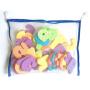 Educational baby tub toy alphabet letter eva foam bath abc toys set for kids