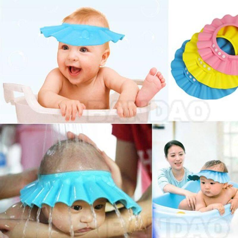 Non toxic EVA foam baby shower cap baby bathing cap