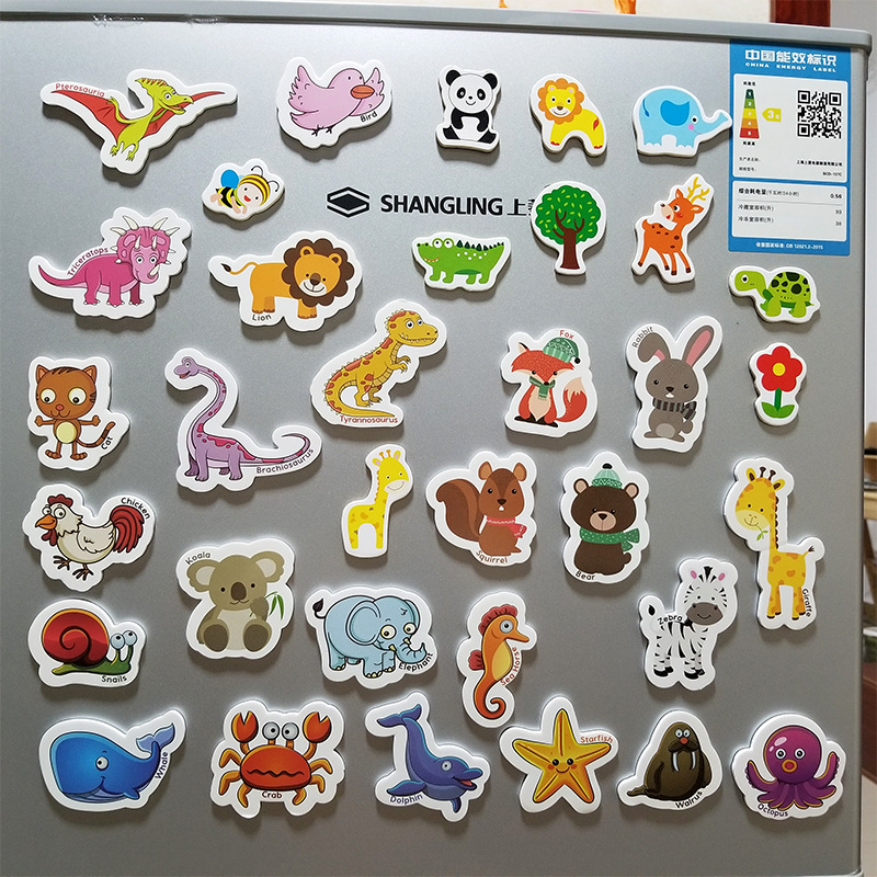 ODM OEM cartoon magnetic printed  fridge stickers magnet