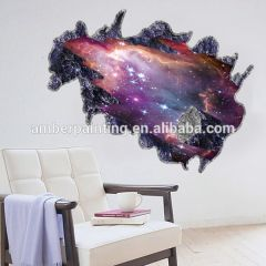 Self adhesive removable PVC 3d wall sticker with custom design