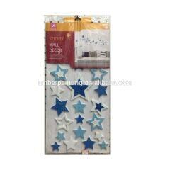 Wall decoration fish shape design eva foam glitter sticker