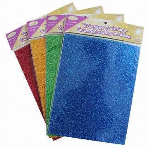 Eco friendly high quality A4 A5 size glitter eva foam sheet