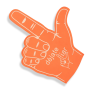 Customized new design cheering hands foam fun fingers       fan foam finger