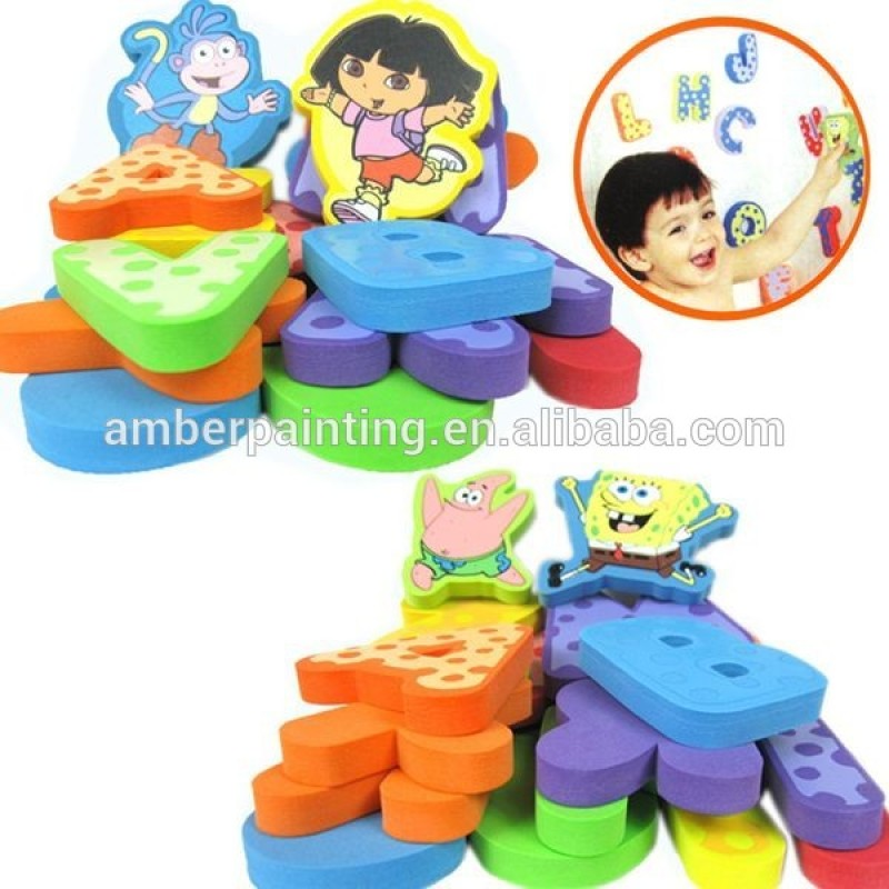 baby early educational non toxic bath foams kids toy
