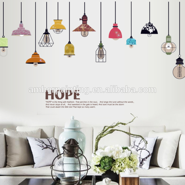 amazon top seller 2017 wall decals light bulbs decorations wallsticker