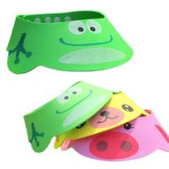 Safety EVA material adjustable baby shampoo cap baby bath cap