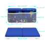 Bath Kneeler with Elbow Rest Pad Set Thick Baby Bath Kneeling Pad Arm Rest Cushion Non-Slip Bottom with 4 Toy Organizer