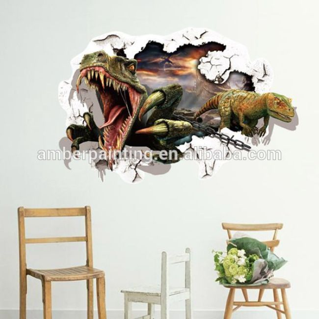 Wall Decoration Removeable 3D Dinosaur Sticker For Kids Room