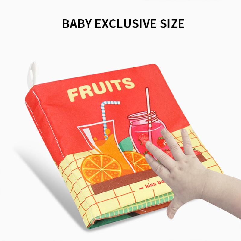 Durable non-toxic soft baby educational 3d cloth books