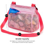 Seashell Mesh Tote Shell Bag Beach Toy Bags Kids Sandboxes Nets Bag Bath Toy Mesh Organizer