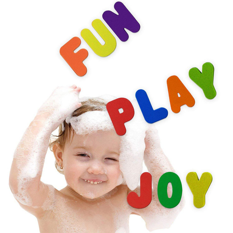 Custom printing safe material baby tub towm foam bath toys toddler bath toys for boys stick bath toys
