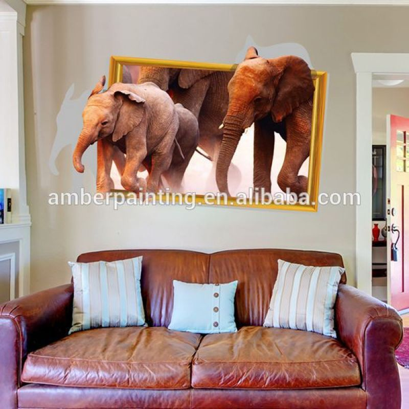 Adhesive home decoration 3d elephant wall sticker