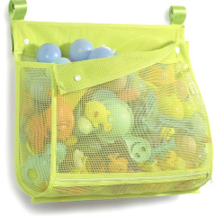 Bath Toy Organizer Multiple Usage Extra Large Opening Bathroom Toy Holder Bottom Zipper Bathtub Toy Storage Bag For Kids