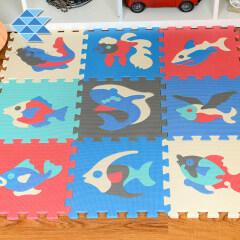 Wholesale high quality baby educational Ocean foam puzzle mat custom eva pads