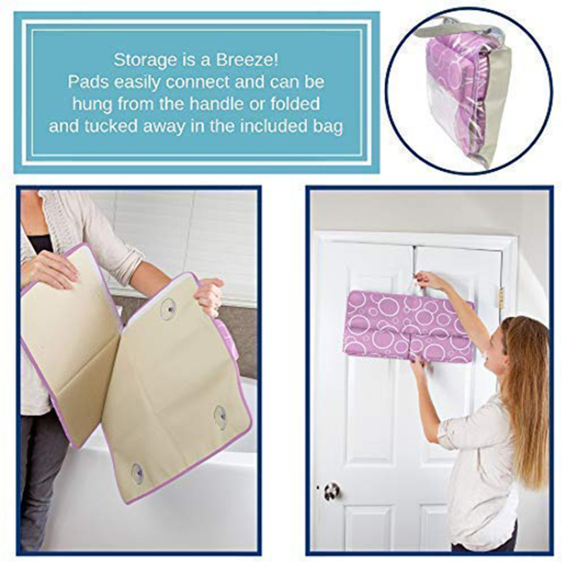 Hot sale custom shape anti-slip bathroom bath mat