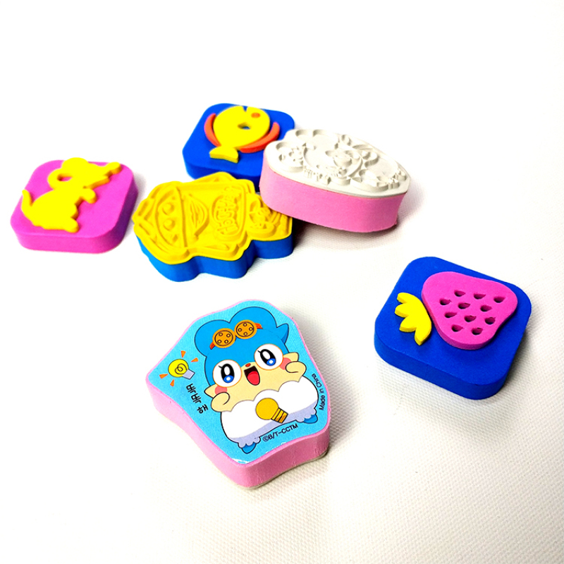 Custom design EVA foam rubber stamp for kids