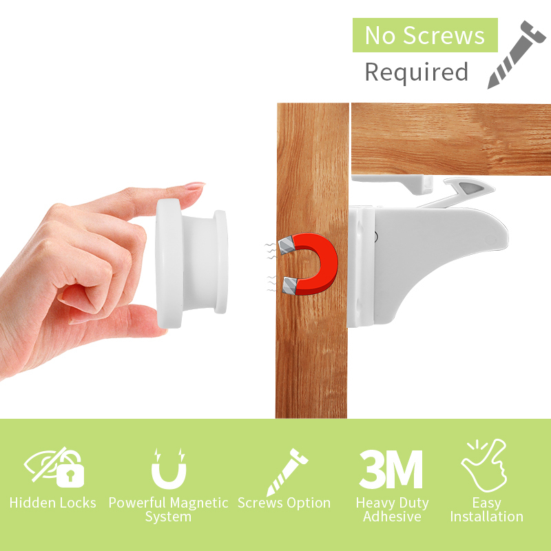 lock cabinet locks baby proofing latches magnetic window lock