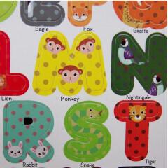 Custom fridge magnet letters alphabet and number child learn toys