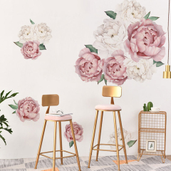 PVC Wall Stickers Removable Floral Wall Decals Bedroom Living Room Wall Art Decor