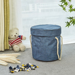 Toy Storage Basket and Play Mat for Kids Toys Collapsible Canvas Storage Bag Toy Organizer