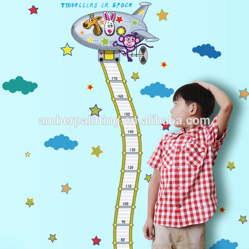 Outer space theme design for boys kids bedroom PVC wall sticker